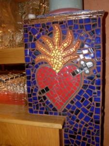 flaming heart milagro
