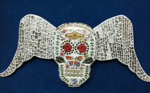 Day of the Dead Mosaic Sugar Skull