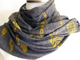 Arrows Scarf / Mustard Yellow Ink