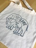 elephant tote grey 2