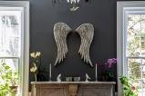 Silver mosaic angel wings